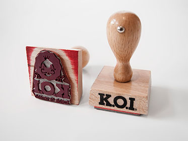 KOI BRAND COMMUNICATION RUBBER STAMP LOGO